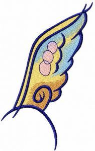 Big wing embroidery design