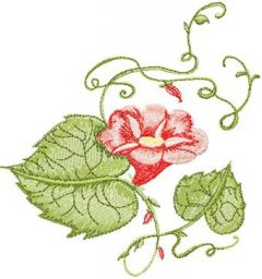 Bindweed embroidery design