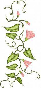 Bindweed embroidery design