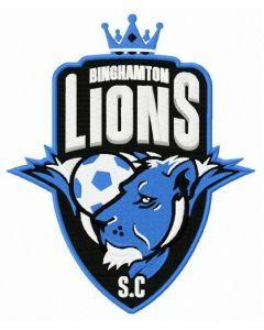 Binghamton lions logo embroidery design