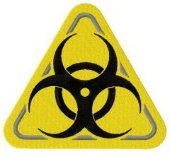 Biohazard road symbol machine embroidery design 2