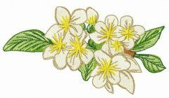 Bird cherry embroidery design