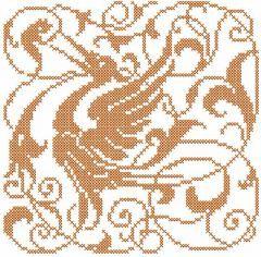 Bird decoration embroidery design