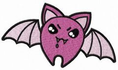 Bloodthirsty bat embroidery design