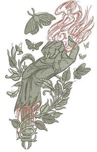 Bloody hand embroidery design