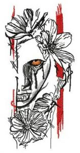 Bloody tears embroidery design