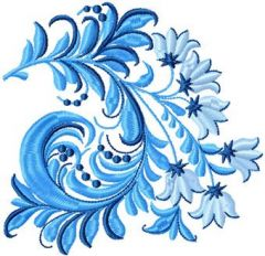 Blue Flower 2 embroidery design