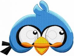 Angry Bird blue 3 embroidery design