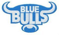 Blue Bulls logo embroidery design