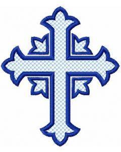 Blue cross 1 embroidery design