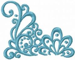 Blue decoration 11 embroidery design