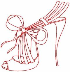 Fashion shoes red embroidery design