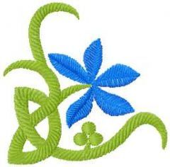 Blue flower 11 embroidery design