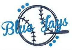 Blue Jays fan logo embroidery design