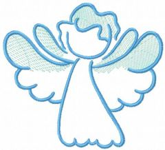 Blue night angel embroidery design