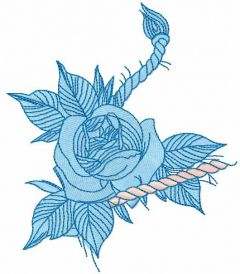 Blue rose 2 free embroidery design