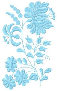Blue tenderness embroidery design