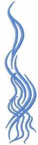 Blue tribal sign 6 embroidery design