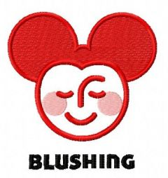 Blushing Mickey embroidery design