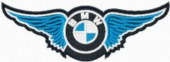 BMW wings logo embroidery design