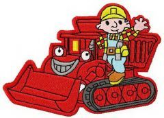 Bob the Builder and bulldozer 2 embroidery design