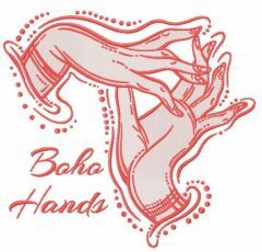 Boho hands embroidery design