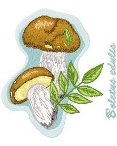 Boletus Edulis embroidery design