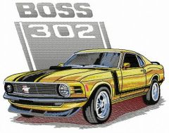 BOSS 302 car embroidery design
