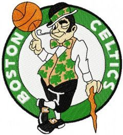 Boston Celtics Logo machine embroidery design
