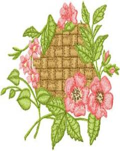 Old Flower Twist embroidery design