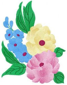 Bouquet 2 embroidery design