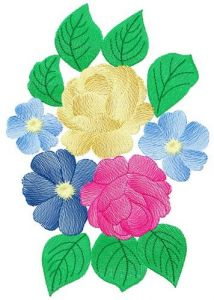 Bouquet 3 embroidery design