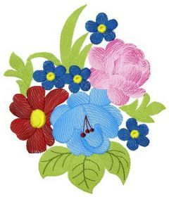 Bouquet 4 embroidery design