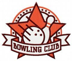 Bowling club embroidery design