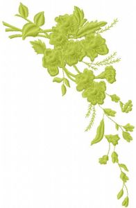 Green branch embroidery design