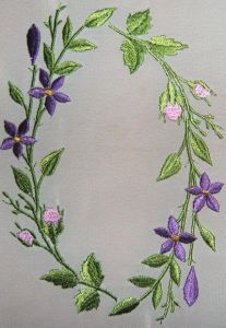 Branch of flowers free embroidery design