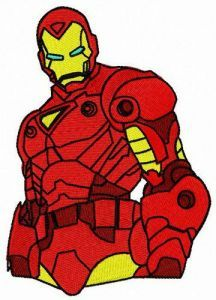 Brave Iron Man embroidery design