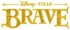 Brave logo embroidery design