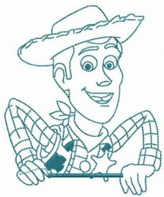 Brave Woody embroidery design