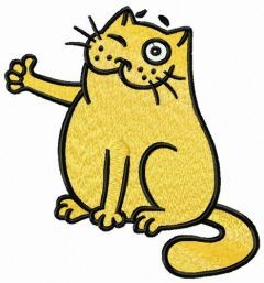 Bravo cat embroidery design