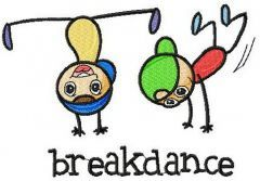 Breakdance embroidery design