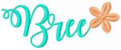 Bree name embroidery design