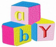 Bright baby cubes embroidery design