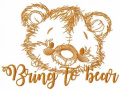 Bring to bear embroidery design
