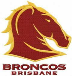Brisbane Broncos logo embroidery design