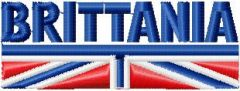 Brittania Logo embroidery design