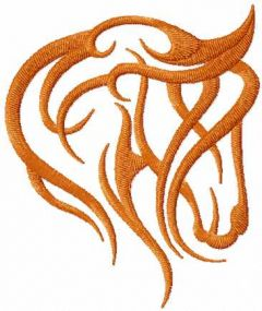 Brown horse 2 embroidery design