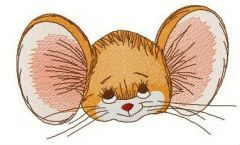 Brown mouse muzzle embroidery design
