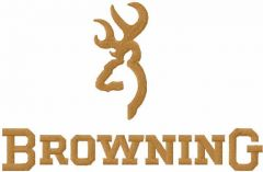 Browning logo embroidery design