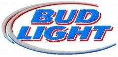 Bud Light logo embroidery design